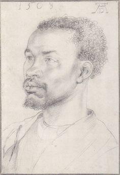 Durer, Portrait study of a black man.   1508? Albertina, Vienna.