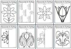 Free Spring Teaching Resources, downloadable Butterfly Symmetry, page borders, printables, worksheets, display lettering, posters, life cycles and banners