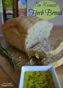 No Knead Herb Bread Recipe with Star Extra Virgin Olive Oil
