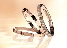 Cartier love bracelets....have ALWAYS wanted a real one!  : (