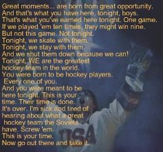 love this movie! When my son was young , he had an awesome hockey coach that made him the player he is today! Usa Hockey, Blackhawks Hockey, Hockey Mom, Hockey Rules, Hockey Stuff, Miracle Quotes, Mom Quotes From Daughter, Hockey Coach, Single Mom Quotes