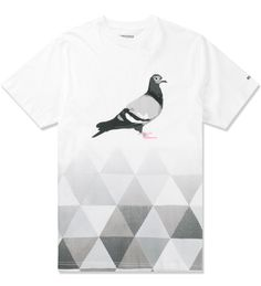 Staple White/Black Fractal Pigeon T-Shirt | HYPEBEAST Store. Shop Online for Men's Fashion, Streetwear, Sneakers, Accessories