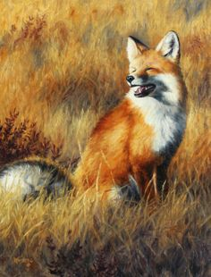 Red fox painting by Cliff Rossberg