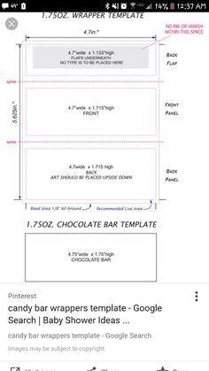Hershey Candy Bar Wrapper Template Size Current Projects