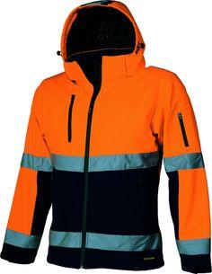 Tricorp Softshell Jack TSJ2000 oranje/groen