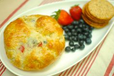 Red, White and Easy Baked Brie