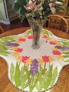 Spring is All Around Table Topper Pattern from Annie's Craft Store. Order here: https://www.anniescatalog.com/detail.html?prod_id=131922&cat_id=1644