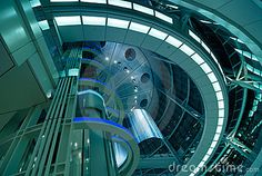 Photo about Abstract modern futuristic architectural interior background, Tokyo, Japan. Image of public, lift, door - 10648899 Futuristic Architecture, Architecture Details, Singularity Theory, Rhys Borderlands, Tales From The Borderlands, New Urbanism, Space Pirate, Space Story, Deep Space