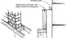 Sealing an air leak next to a chimney