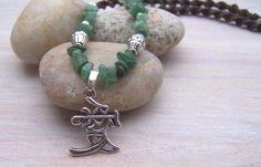 """Halskette mit Jade """"Glück"""" von garden of shambala auf DaWanda.com"""