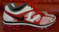 NIKE MAX AIR SIZE 10.5 AIRMAX FITSOLE SHOES ATHLETIC WORN ONCE FROM NIKE STORE #Nike #RunningCrossTraining