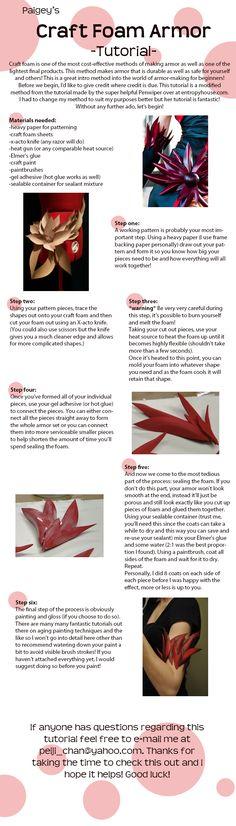 Craft Foam Armor tutorial