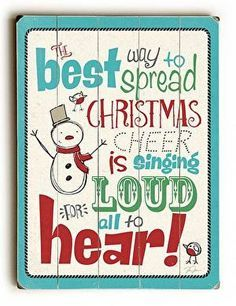 Christmas Cheer Wood Sign The best way to spread Christmas cheer is signing loud for all to hear. With a fun vintage feel, this Christmas Cheer Wood Sign will add cheer to your holiday decor. Noel Christmas, Christmas Signs, All Things Christmas, Winter Christmas, Vintage Christmas, Christmas Decorations, Christmas Quotes, Holiday Decorating, Christmas Nails