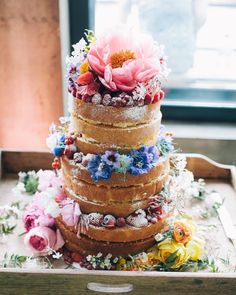 """@refinery29 posted about the 10 wedding trends they're bored of, including naked cakes. Clearly haven't seen this one have they? Do whatever makes you…"""