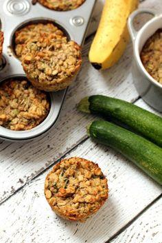 Zucchini Banana Oatmeal Cups…a super easy breakfast on-the-go! #vegan #glutenfree