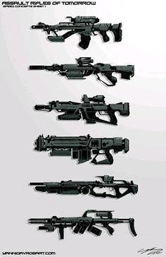Assault Rifles of Tomorrow https://www.artstation.com/p/JgWOn Yanni Davros Full Time Licensing/Branding Artist at J!NX.com -- Share via Artstation Android App, Artstation © 2017