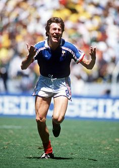 World Cup Quarter Final Guadalajara Mexico June France 1 v Brazil 1 France's Luis Fernandez celebrates after scoring the winning penalty in the. All Star, Mexico 86, Luis Fernandez, National Football Teams, World Cup Final, France 1, Soccer Players, Fifa, Celebrities