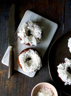 orange flavoured coconut donuts