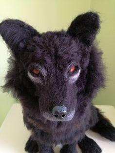 NEEDLE FELTED WOLF OOAK HAMND MADE ART TOY by FairytaleWORLDofART on Etsy Felt Dogs, Art World, Needle Felting, Fairytale, Goats, Cow, Fantasy, Animals, Etsy