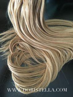 26inch blonde microbead hair extentions. 100% remy human hair. www.doristella.com
