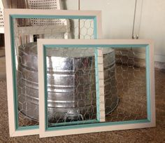 Framed Chicken Wire Memo Photo Bulletin Board by WellNestedDesign, $55.00