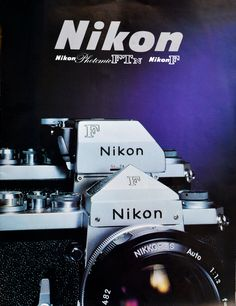 Nikon f brochure Nikon, Old Cameras, Film Camera, Camera Photography, My Images, Design Elements, Posters, Classic, Clothing