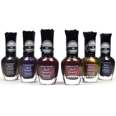 Amazon.com: NEW KLEANCOLOR 3D DUOCHROME NAIL POLISH LOT OF 6 LACQUER THE CHROMATIC ERA KNP17 + FREE EARRING: Beauty