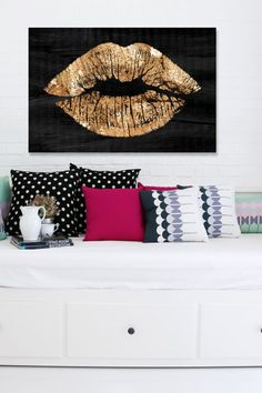 Solid Kiss Night Canvas Art on @HauteLook 1930s furniture, Art deco furniture, vintage furniture, interior design, style