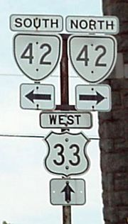 Old Road Signs in Harrisonburg, Va.