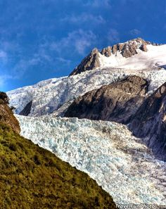 Stunning View of The Top of Franz Josef Glacier, New Zealand