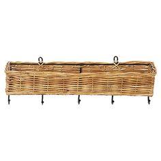 Addison Rattan Wall Basket.