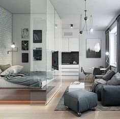 Here we showcase a a collection of perfectly minimal interior design examples for you to use as inspiration.Check out the previous post in the series: 30 Examples Of Minimal Interior Design Interior Design Examples, Interior Desing, Interior Design Inspiration, Design Ideas, Interior Ideas, Layout Design, Logo Design, Small Apartment Bedrooms, Apartment Interior