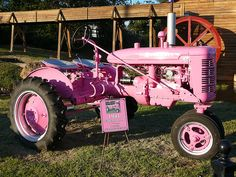 I think I might need this!!  Every farm girl needs a pink tractor....