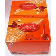 Lindt Lindor Milk Chocolate Truffle Candy with Jack-O-Lantern wrapping