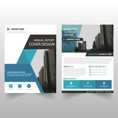 Blue and black abstract corporate leaflet brochure flyer template business brochure design business brochure template with geometric shapes vector flashek Choice Image