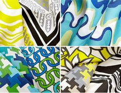 Bold colors! indoor outdoor fabric collection