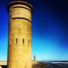 WWII Observation Towers on the beach nears Gordons Pond in southern Delaware. Learn more about Delaware beaches at http://www.visitdelaware.com/beaches.