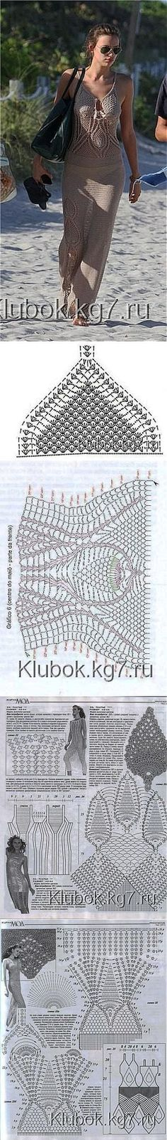 "Пляжное платье [   ""Posts on the topic of crochet added by Celeste Fernandes"" ] #<br/> # #Bikini #Cover #Up,<br/> # #Crochet #Dresses,<br/> # #Bikinis,<br/> # #Crochet,<br/> # #Blouses,<br/> # #Beach<br/>"