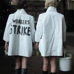This is timely, given the UK public sector workers' strike today: London-based designer Eldina Begic has unveiled a collection of women's clothes inspired by socialist workwear Only Fashion, Fashion News, Womens Fashion, Fashion Trends, Girl Outfits, Fashion Outfits, Fashion Clothes, Street Outfit, Fashion Story