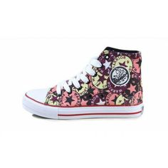 Printed High Canvas Flat Women's Shoes Sneakers