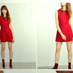 Zara Red Dress. New With Tags.