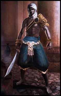 Arabian Assassin by gregmks on DeviantArt Fantasy Warrior, Fantasy Rpg, Medieval Fantasy, High Fantasy, Black Characters, Fantasy Characters, African American Art, African Art, Fantasy Inspiration