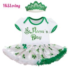 >> Click to Buy << 2017 St Patricks Day Baby Girls Romper Cotton Romper Tutu Dresses Three-Leave Newborn Clothes Customised Available RD152S #Affiliate