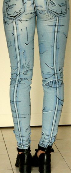Cel shaded pants Borderlands style Comic book by DejaNeufHeures