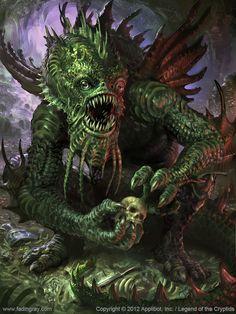 Artist: Lukasz Jaskolski aka fadingray - Title: abyssal monster adv - Card: Unknown