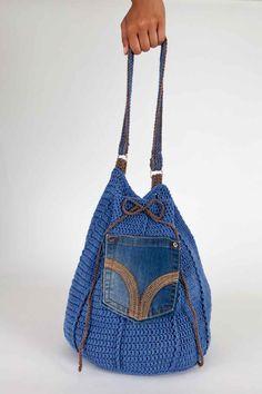 Malikoo Upcycled Denim Bag Crochet Pattern