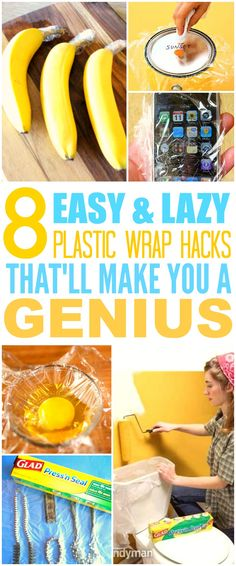 These 8 life changing plastic wrap hacks are THE BEST! I'm so glad I found these GREAT tips! Now I can save a ton of money! Definitely pinning for later!