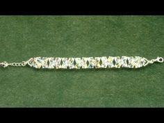 Beading4perfectionists : Swarovski Bracelet to match the V-necklace for beginners beading tutorial