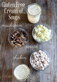 Gluten Free Cream of Chicken, Mushroom & Potato Soups http://glutenfreeonashoestring.com/d-y-friday-gluten-free-cream-chicken-soup/