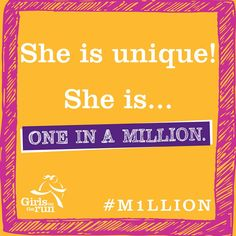 Who do you think is one in a million? Let's join @gotrint and build a chain of affirmation. We challenge you to take the One in a Million Challenge! #M1LLION #BuildingStrongGirls 1. Post a photo of someone you think is one in a million. Share why and use the hashtag #M1LLION. 2. Head to GirlsOnTheRun.org and make a donation in honor of your one-in-a-million person! 3. Tag your one-in-a-million person and ask them to accept the #M1LLION Challenge by following the same steps!